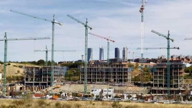 Viviendas en construcción en Madrid.