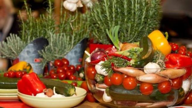 Vegetales de la dieta mediterránea.