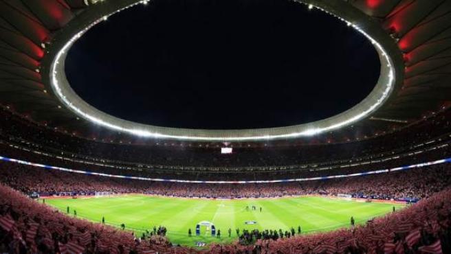 Estadio Wanda Metropolitano, sede de la final de la Copa del Rey 2018.