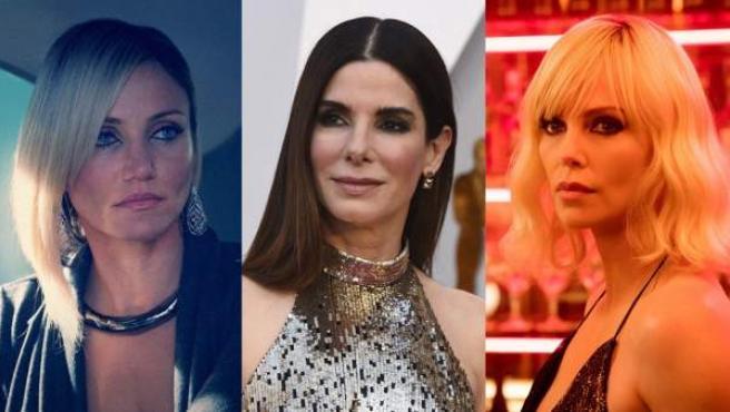 Cameron Diaz en 'El consejero', Sandra Bullock en los Óscar 2018 y Charlize Theron en 'Atómica'