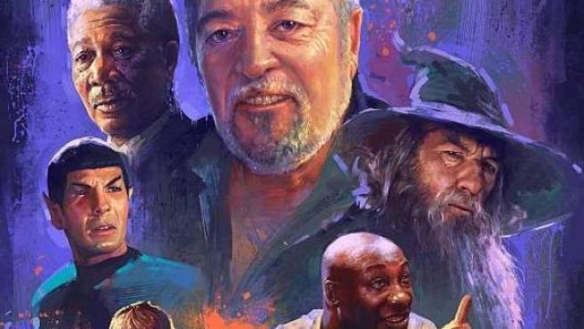 El actor de doblaje Pepe Mediavilla y algunos de los personajes más icónicos a los que ha puesto voz.