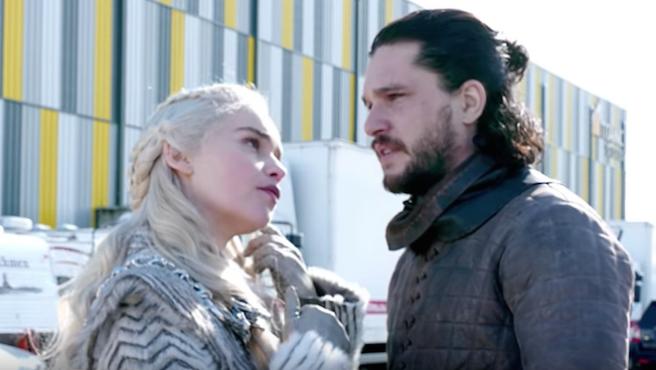 'Juego de tronos': Emilia Clarke te 'cuela' en el rodaje de la última temporada