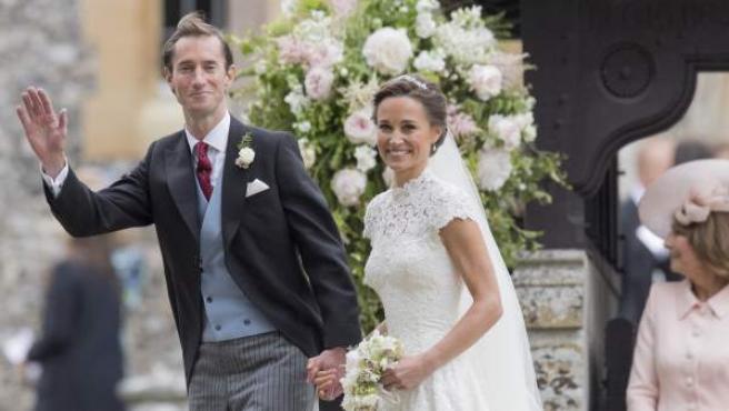 James Matthews y Pippa Middleton, el día de su boda, el pasado 2017 en Inglaterra.
