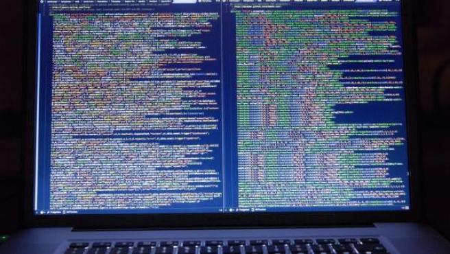 Código informático en la pantalla de un ordenador, en una imagen de archivo.