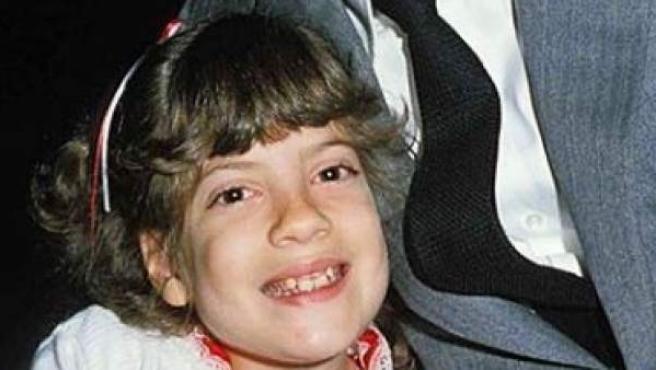 La actriz Tori Spelling, en una imagen de cuando era una niña.