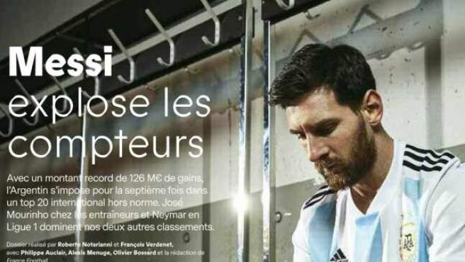 Leo Messi, el futbolista con más ingresos según la revista 'France Football'.
