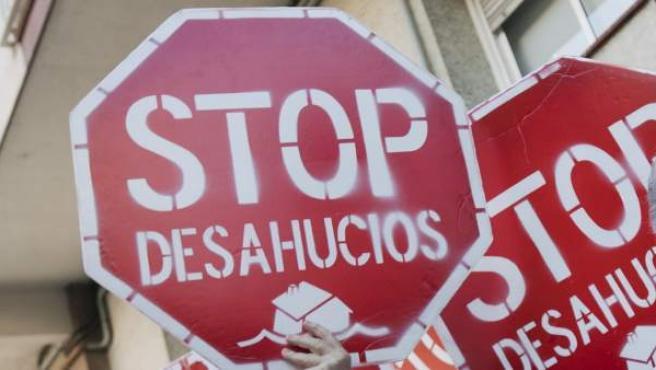 El movimiento Stop Desahucios lucha contra la exclusión.