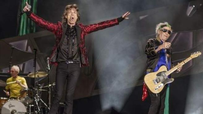 The Rolling Stones en un concierto.