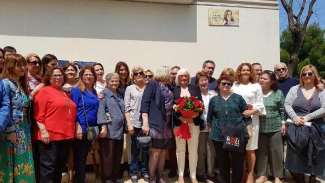 Inauguración de la calle Carme Chacón en Sevilla