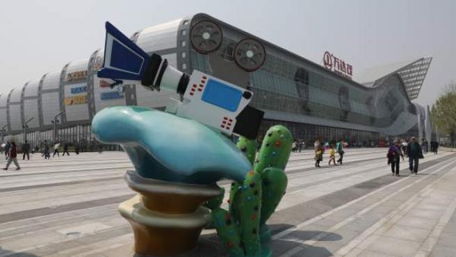 """Imagen del Wanda Mall, una parte de la """"Metrópolis del Cine Oriental"""", en la ciudad china de Qingdao."""