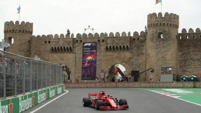 Sebastian Vettel, en el GP de Azerbaiyán.