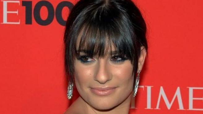 La actriz Lea Michele, en la gala Time 100 de 2010.