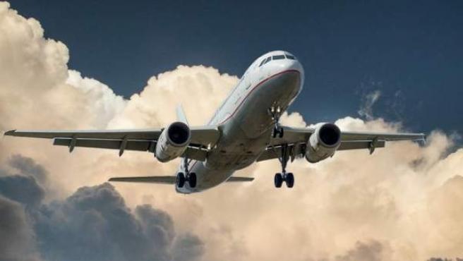 Avión en vuelo.