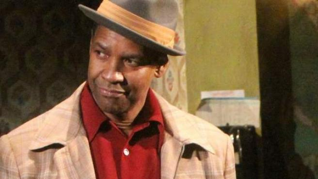 Denzel Washington, durante una obra de teatro.
