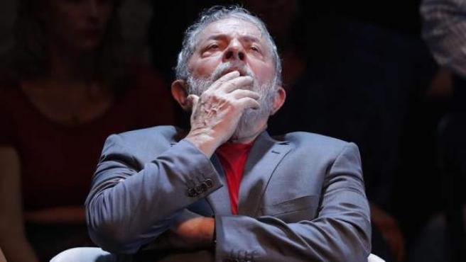 El expresidente brasileño Luiz Inácio Lula da Silva, durante un acto en Río de Janeiro, el 2 de abril de 2018.