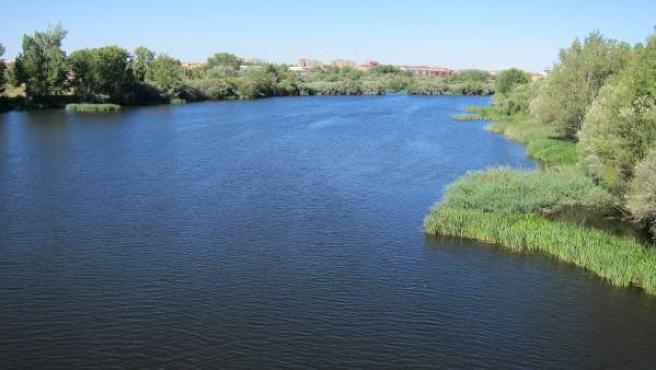 El río Tormes a su paso por la ciudad de Salamanca