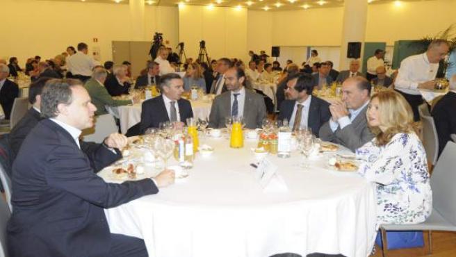 Luis María Beamonte en la presentación de su política fiscal.
