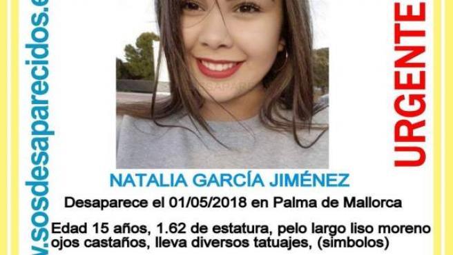 Desaparecida en Palma el 1 de mayo