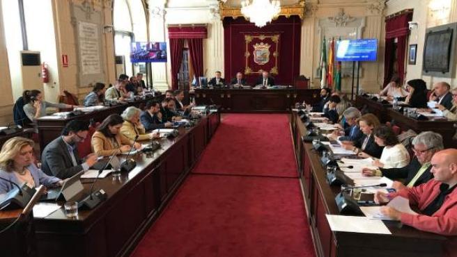 Pleno del Ayuntameinto de Málaga Abril