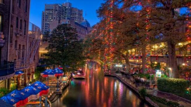 La ciudad de San Antonio en Texas.