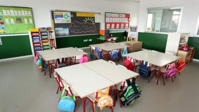 Un aula d'un col·legi