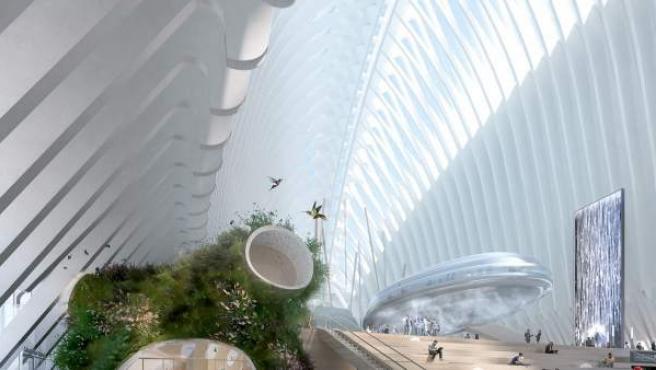 Proyecto del interior del Ágora