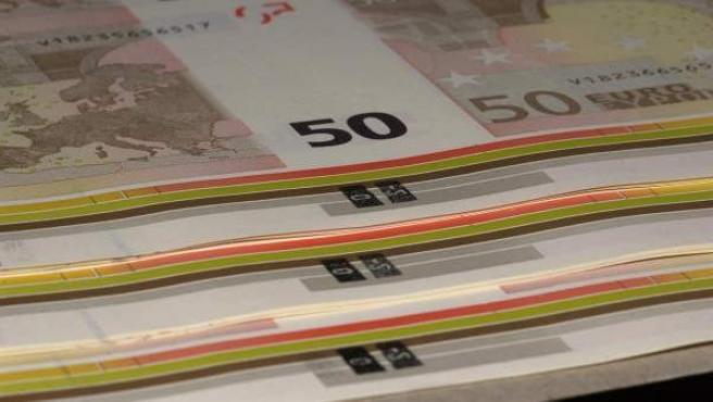 Fabricación de billetes de euros en la Fábrica de Moneda y Timbre