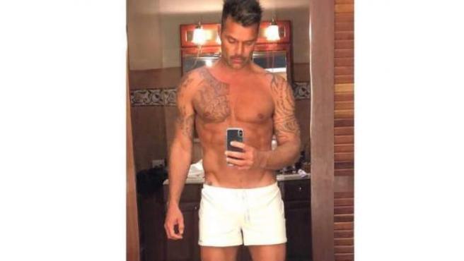 La imagen del cantante Ricky Martin.