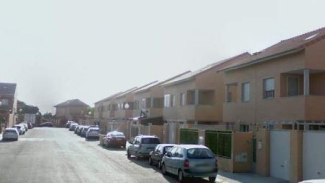 Calle Robles, situada en la localidad madrileña Cubas de la Sagra.