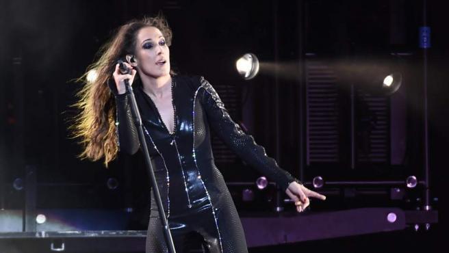 La cantante durante un concierto en Madrid en mayo de 2016.