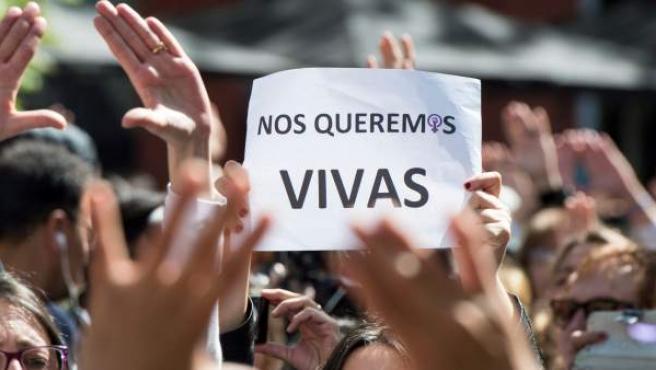 Protestas en Madrid contra la sentencia de La Manada.