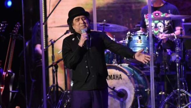 El cantante Joaquín Sabina durante un concierto en Marbella (2017)