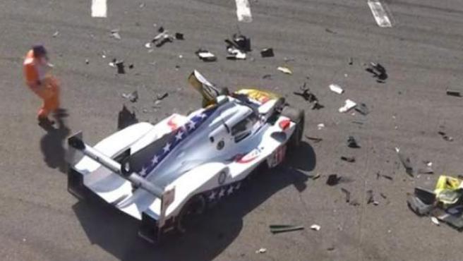 Pietro Fittipaldi sufrió un fuerte accidente durante la clasificación de las 6 horas de Spa.