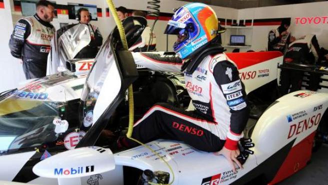 El piloto español Fernando Alonso, en las 6 horas de Spa.