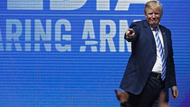 Donald Trump, en un acto en la Asociación Nacional del Rifle.