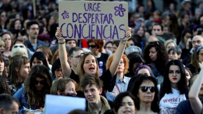 Imagen de una protesta en Madrid.