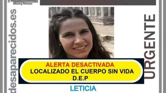 Leticia Rosino, desaparecida en Castrogonzalo y hallada muerta con signos de violencia.