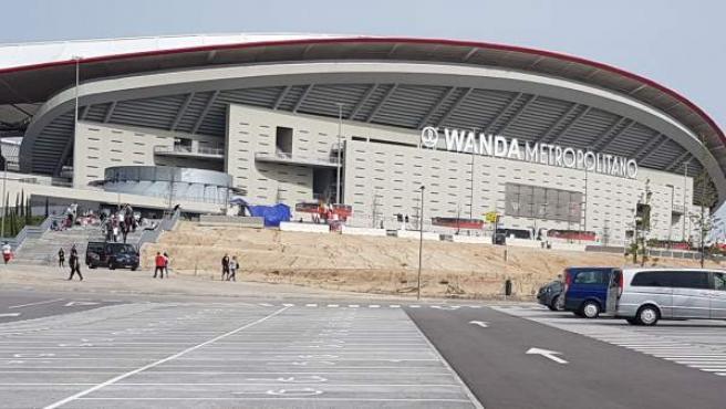 Imagen del Wanda Metropolitano antes de la pasada final de Copa del Rey.