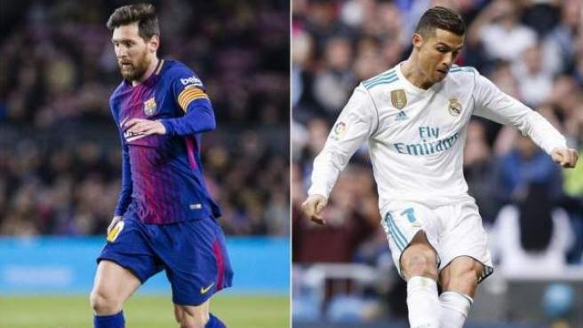 Leo Messi y Cristiano Ronaldo, jugadores del FC Barcelona y del Real Madrid.