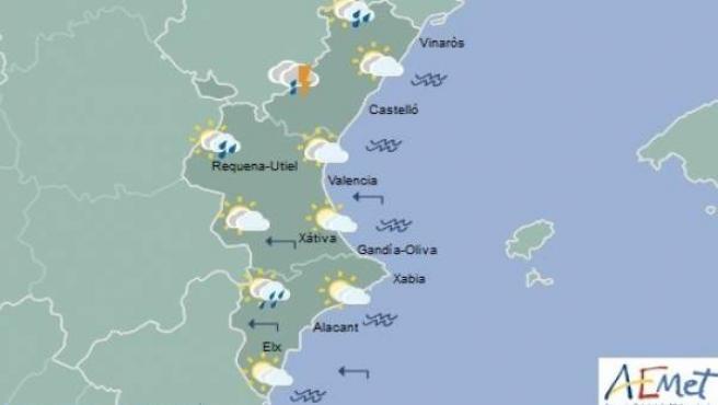 Previsión de Aemet para la Comunitat Valenciana del domingo 6 de mayo