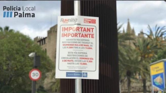 Restricciones circulatorias por la Mallorca Ruhning