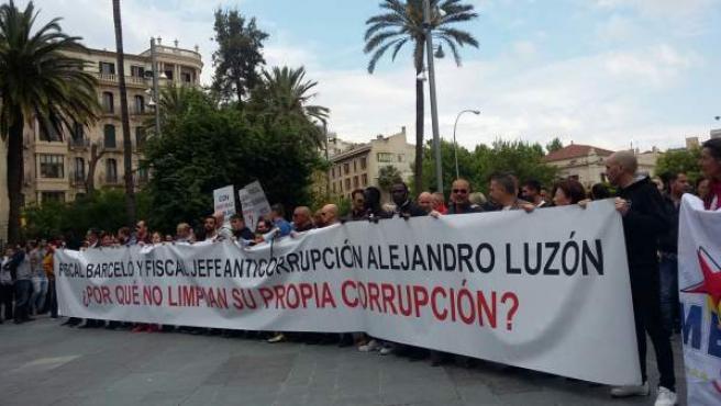 Manifestación contra la 'corrupción judicial'