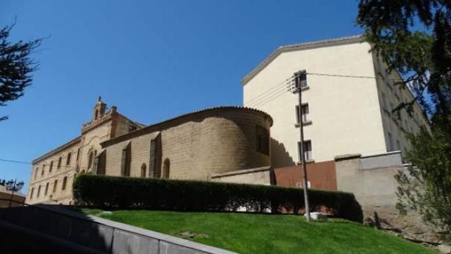 Una de las caras del Seminario de Huesca.