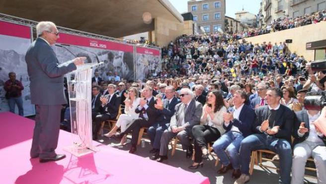 Bahamontes en su acto de homenaje en Toledo