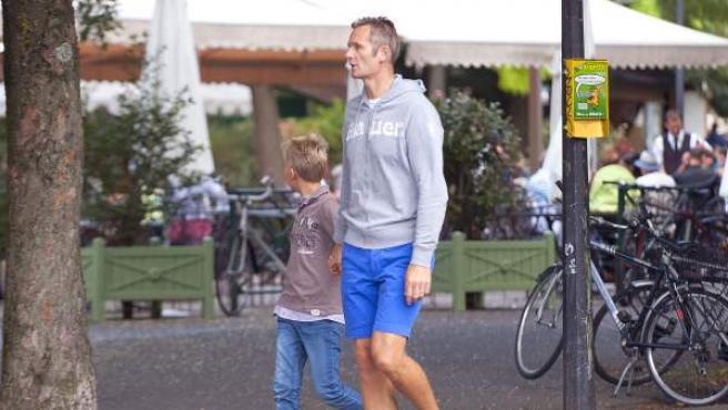 Iñaki Urdangarin, en una imagen de archivo tras salir a correr con uno de sus hijos.