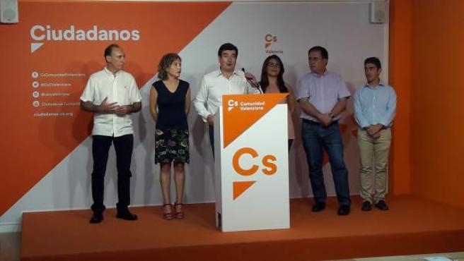 Fernando Giner en la rueda de prensa tras el primer Comité Autonómico