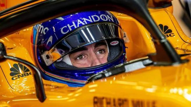 Fernando Alonso, a bordo de su McLaren.