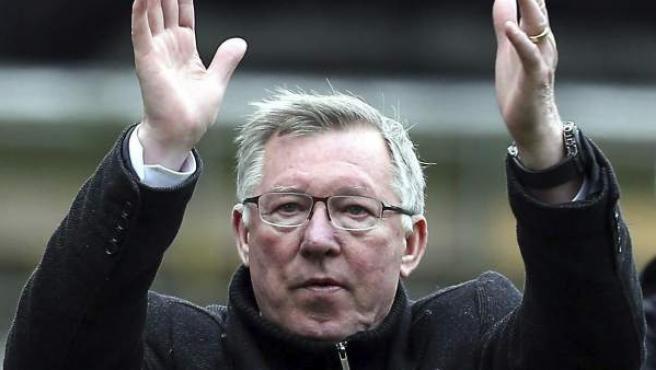 Sir Alex Ferguson, en su etapa como entrenador del Manchester United.