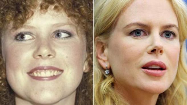 La actriz en una imagen de su juventud y otras más actual.