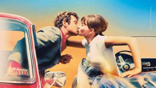 Detalle del póster oficial de Cannes 2018, con Anna Karina y Jean-Paul Belmondo